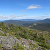 Lunch time on the ledges!  Mt Oscar at end of Rosebrook Range with Mt Martha on left and Dartmouth Range on the right.