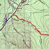 This map shows two GPS tracks from my visit to the area on 7/24/15.  The blue colored track shows my track hunting for Elliott'd Dam.  The way point indicates actual location of the dam.  The red colored GPS track shows my GPD track made the same day heading up Drakes Brook and actual location of that dam.