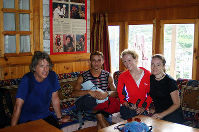Settling into the lodge (Hotel Kamal) at Namche, where we rested for an acclimatisation day.