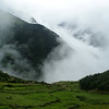 Valley side above Namche, high above the Dudh Koshi river that runs off the Khumbu Glacier.
