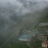 Mist over Namche, the morning we set off to go to Pangboche