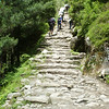 The steep path up towards Namche Bazar