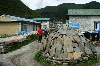 Mani wall in Khumjung village