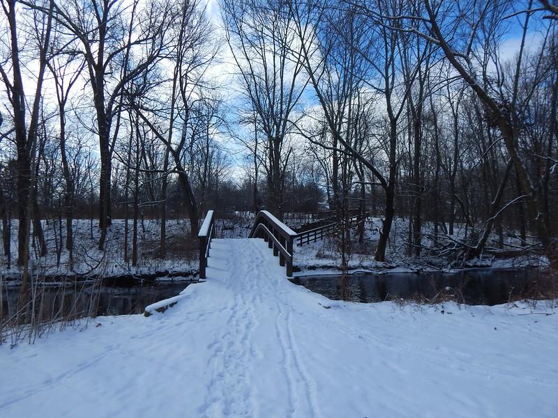 Firestone bridge in winter