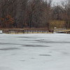 Frozen  fishing pond