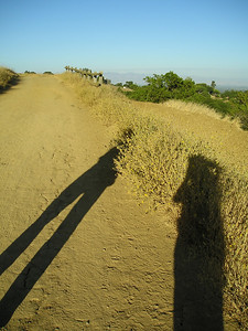 It was late afternoon, and we chased our shadows down this section of trail.