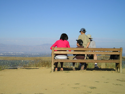 At Hunter's Point, a beautiful bench tempts one to sit and enjoy the view.