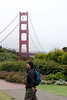 Steven and large Golden friend.