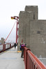 Lisa on the Golden Gate Bridge. We get some wonderful photo opportunities.