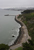 From the bridge, looking along the road that comes in to Fort Mason.