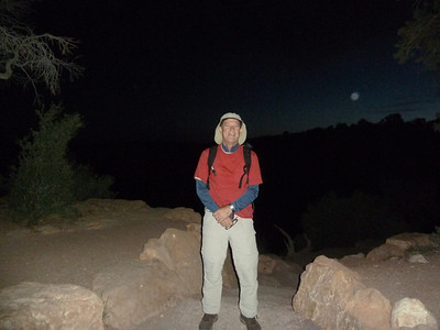 Starting out on the South Kaibab Trail at 4:40 AM. Thanks so much to John (JAGCHiker) showing me the perfect overnight spot, the best parking spot, and for shuttling me to the trail head before the hiker's shuttle bus.  It made the entire experience run so much more smoothly.