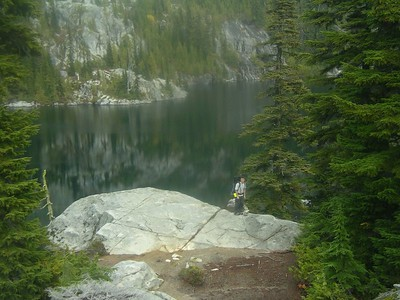 Andy next to Tuck Lake.