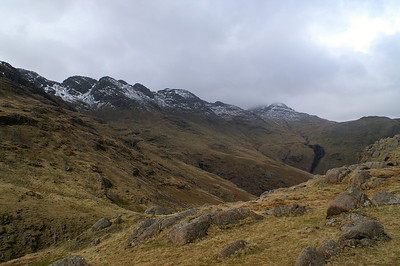 Crinkle Crags from below Great Knott