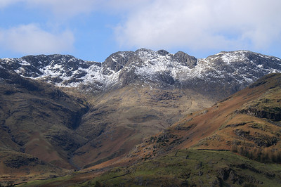 Crinkle Crags from near the Old Dungeon Ghyll Hotel.