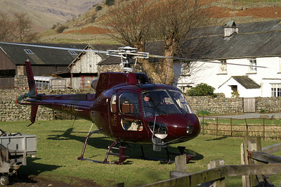 Stone drop helicopter resting