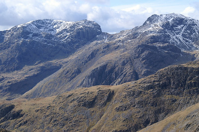 Sca Fell (left) and Sca Fell Pike (right).