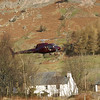 Stone drop helicopter landing