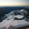 Blick von der Adlersruhe am Morgen des 21.08. bei Sonnenaufgang