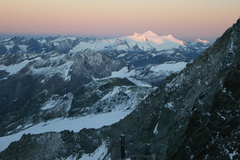 Blick von der Adlersruhe zum Großvenediger am Morgen des 21.08.2013
