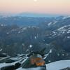 Blick zum Mond von der Adlersruhe am Morgen des 21.08.2013