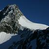 Blick von der Adlersruhe zum Gipfel un den Seilschaften