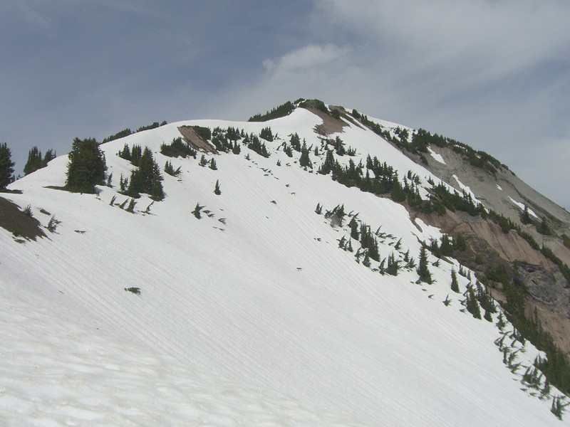 Final ridge up to the summit plateau of Hannigan Peak.