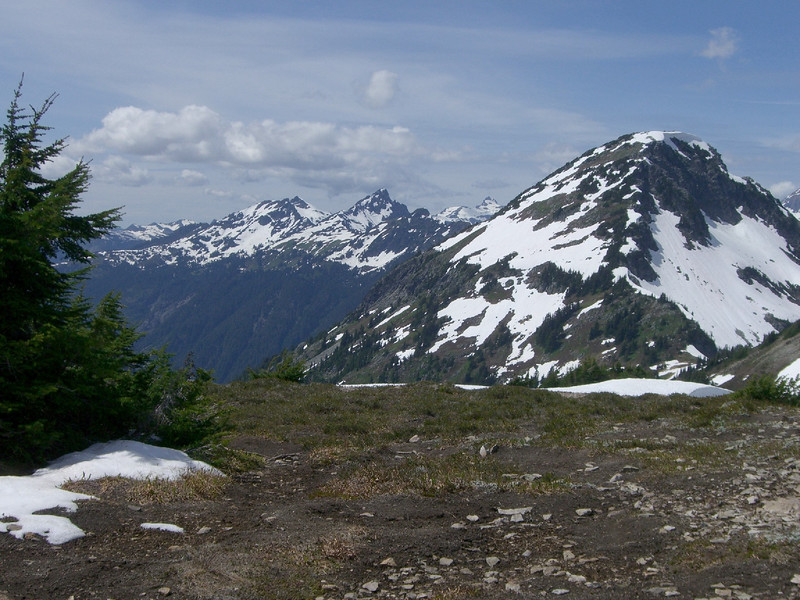 Another view of Granite Mountain with Goat Mountain off in the distance