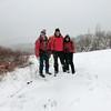 Jakob, Bob, Marcia on Surebridge Mtn. (Lichen Trail).
