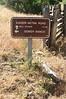 A trail sign. Dowdy Ranch is where the visitor center is.