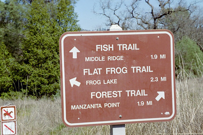 trail sign at Henry coe