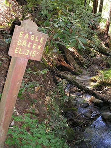 We're almost back to where we started, now, crossing Eagle Creek.