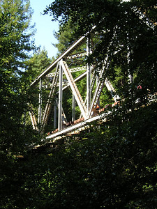The trail passes under this railroad trestle.
