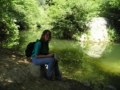 Ellen enjoys having her photo taken at Big Rock Hole.