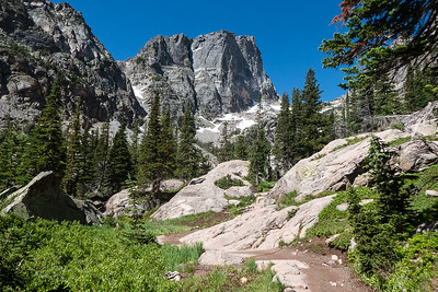 On Trail to Emerald Lake