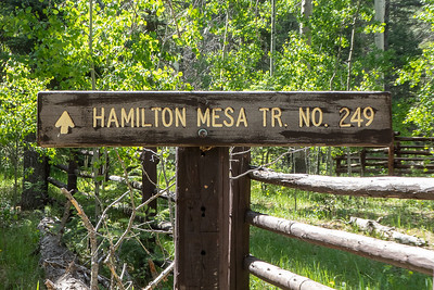 Hamilton Mesa Trail Sign