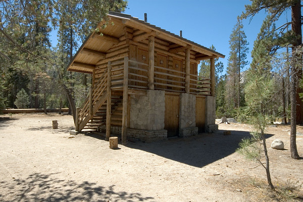 """This four stall, solar powered restroom is an amazing thing considering its location in """"Little Yosemite Valley,"""" which is a pretty good hike from the nearest road."""