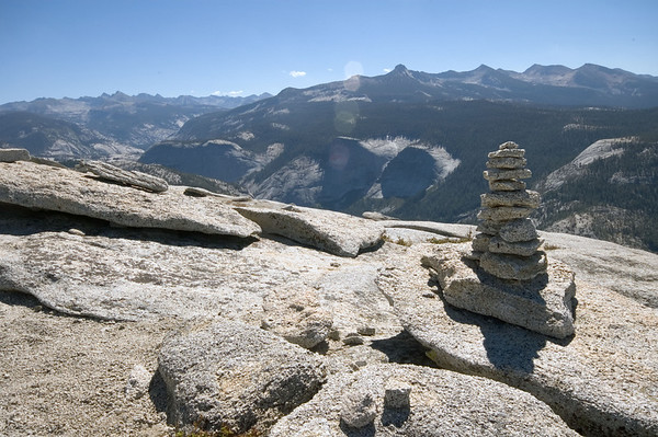 Wherever there are loose rocks, people will pile them up.
