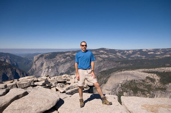On the summit at 8,842 feet elevation! About 4500 feet higher than when I started this morning...