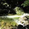 Nice deep pool below a cascade