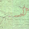 GPS track of my route on Topo map