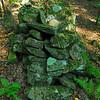 another rock cairn in a field beside Injun Creek