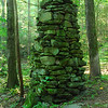 this is the tallest rock cairn I have found in the Smokies, standing about 9 feet