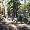 First night's camp site, where the JMT crosses Evolution Creek.  We enjoyed a camp fire here.