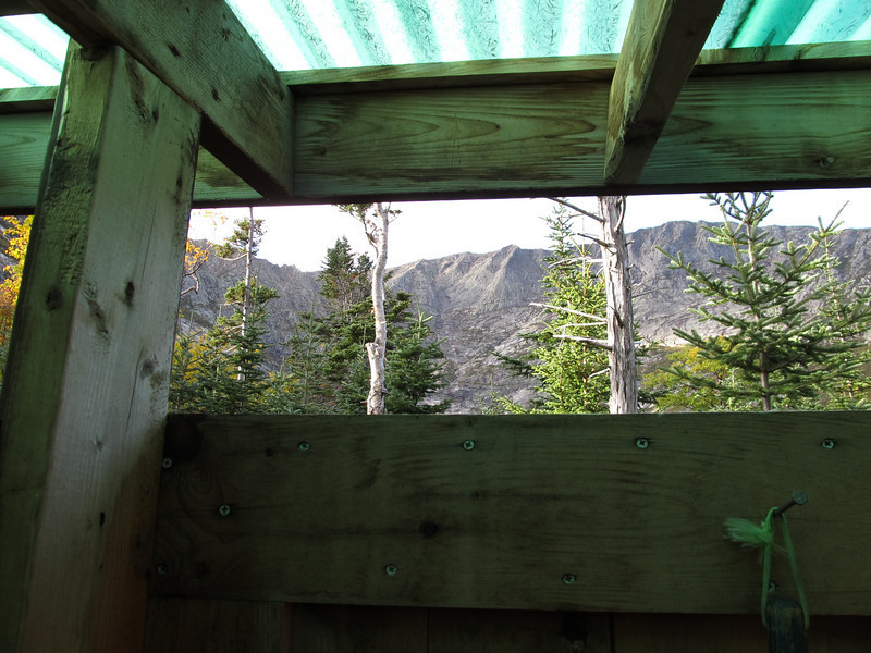 View from outhouse at Chimney Pond Camp Ground is hard to beat!