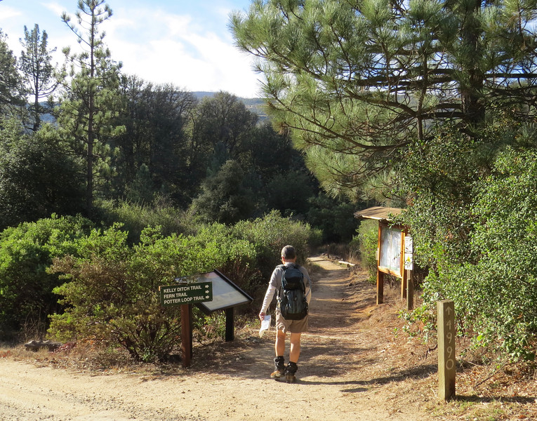 Trailhead at William Heise County Park.