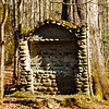 this is the monument which held the sign for the Civilian Conservation Corps camp in the 1930's