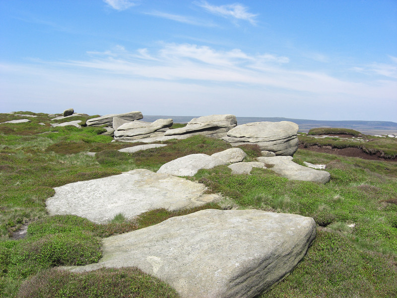 Huge limestone slabs above Seal Edge