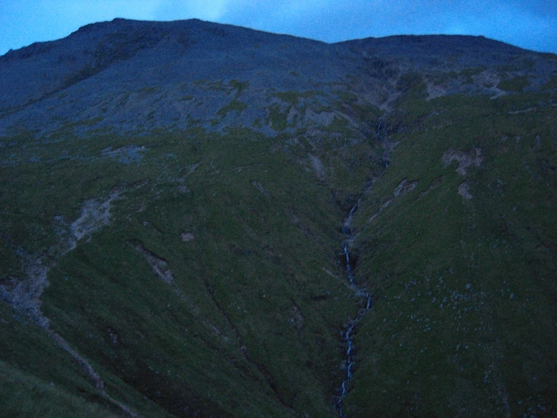 Carn Dearg and Ben Nevis: the mists lifted only after we were gone