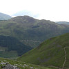 Starting to climb Ben Nevis: view across Glen Nevis to Sgorr Chalum from just above Lochain Meall an t-Suidhe