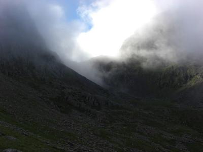 Mickledore breaking free of cloud